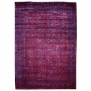 8'2x12' Red Afghan Khamyab Natural Dyes Velvety Wool Hand Knotted Rug G55622