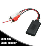 1x Car Stereo Audio Radio Bluetooth Aux Cable Adapter 2 Rca Interface Connector