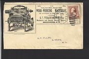 Manchester,new Hampshire.1885,210 Cover. Advt. S.f. Forsaith.. Wood-working.