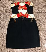 Moschino Couture Andlsquo89 Andldquocruise Me Babyandrdquo Life Preserver Blue Red Fish Charm Dress