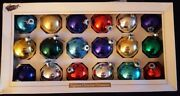 Box Of 18 Vintage Bright And Beautiful Handblown Christmas Ornaments. Made In Usa.