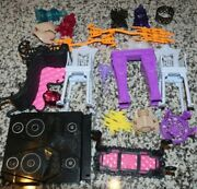 Monster High Doll Furniture Play Set Lot Couch Candle Stool Gargoyle ++