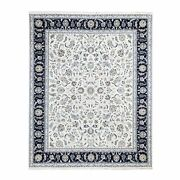7and03910x10and0391 Silk 250 Kpsi Ivory All Over Design Nain Handknotted Rug G59417