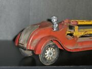 1920's Us Made Kingsbury 170 24 Aerial Fire Truck W/ Automatic Ladder, Driver