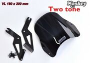 Motorcycle Accessories Front Windshield Two Tone L J-max For Honda Monkey 125