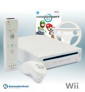 Wii - Console White + Mario Kart Wii + Official Remote Plus + Equipment