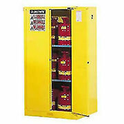 Justrite 942750 Manufacturing Yellow 18 Gauge Cr Steel Sure-grip Ex Flammable Sa