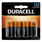 Duracell Dl123a Cr123a 3v Lithium Battery 4pcs Packaging May Vary