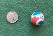 Vintage Super Ball 1970s Bouncy Gumball Machine Toy Superball Fun Colorful Swirl