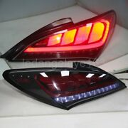 Dark Red For Hyundai Rohens Coupe Led Strip Taillights Lamps 2009-2011 Year Jy