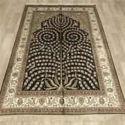 Yilong 4and039x6and039 Handmade Silk Area Rug Living Room Oriental Indoor Carpet 037b