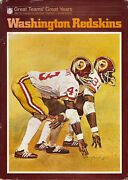 Washington Redskins Great Teams Great Years Hardcover Book And Dust Jacket 1974