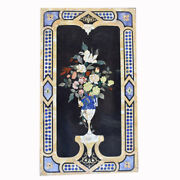 52 X 30 Marble Table Top Floral Inlay Handmade Work For Home Furniture