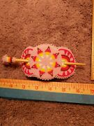 Native American Inspired Beaded Stick Ponytail Barrette