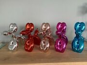 Classic Balloon Dog Set -blue/silver/red/pink/rose Gold Limited /999 + Coa New