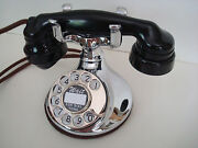 Antique Chrome Round Western Electric 102 Telephone Works