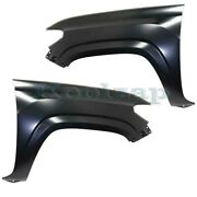 For 16-20 Tacoma Truck Front Fender Primed W/o Molding Holes Left Right Set Pair