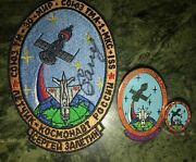Iss Flown Badges/pins And Personal Patch Of Cosmonaut Sergei Zaletin