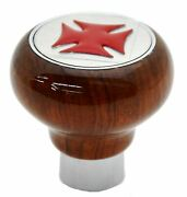 Gg Air Brake Tractor Knob Screw-on Rosewood Red Glossy Cross Sticker 95565
