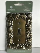 Betsy Fields Design Tumbled Antique Brass Single Switch Wall Plate New Vine Leaf