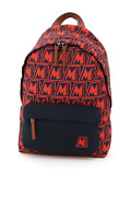 New Moncler Basic Pierrick Backpack Logo Motif 5a704 00 02sl3 Rosso Authentic Nw