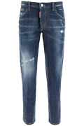 New Dsquared2 Hockney Jeans All-over Rhinestones S75lb0415 S30342 Blue Authentic