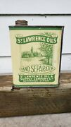 Vtg Vintage Advertising St Lawrence Hand Separator Oil Tin Can Dairy