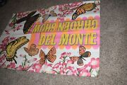 Vintage 1968 Large Del Monte Garden Show Butterfly Bi-folded Ad Poster 70x48