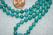 108 Turquoise Jewelry, Necklaces, Mala Beads , Beaded Necklace, Hand Knotted