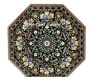 48 Marble Dining Center Table Top Pietra Dura Inlay Handmade Floral Work