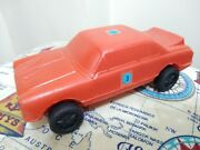 Vintage Ford Cortina Race Soft Plastic Toy Car Argentina 1970