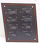 Boat Electrical Switch Control Instrument Panel L Drive Dash And 8 Rocker Switches