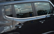 Chrome Side Door Window Sill Trim Set Covers To Fit Jeep Renegade 2015
