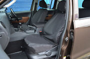 To Fit Vw Volkswagen Amarok Tailored Front And Rear Waterproof Seat Covers Black