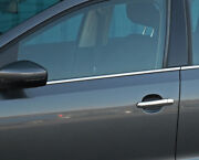 Chrome Side Door Window Sill Trim Covers To Fit Volkswagen Polo Lhd 09-17