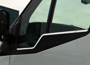 Chrome Side Door Window Sill Trim Set Covers To Fit Ford Transit 2000-13