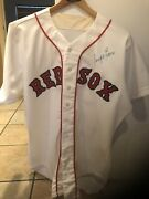 Dwight Evans Game Used Homeandnbspuniformautographedgiven To Sparky By Evans.