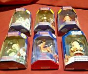 Lot Of 6 Christmas Ornament Enesco Rudolph Red Nosed Reindeer Lion Snowman Toys