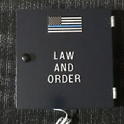 Police Thin Blue Line Flag Call Box Telephone Old Phone Vintage Gamewell