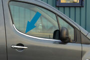 Chrome Side Door Window Sill Trim Set Covers To Fit Peugeot Partner 2008-18