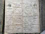 Antique Cloth Map Of The Transvaal Circa 1900