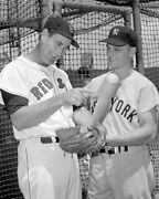 Ted Williams And Roger Maris - 11 X 14 Photo - 1960 - Fenway Park- Baseball