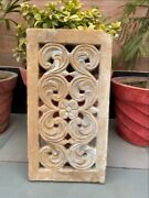 1700's Ancient Stone Carved Floral Mughal Period Window Bracket Panel 17.5 X 9''