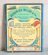 Old Antique India Keshow Jee Muljee And Co Oldest General Insurance Adv Booklet