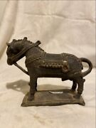 Antique Old Rare Brass Hand Carved South India Orissa Horse Rare Sculpture