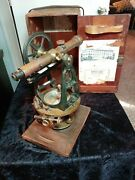 Antique Buff And Buff Mfg Co Black And Brass Surveyors Transit No. 20248 Nj Working