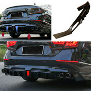 For Honda Accord 2018-2021 Unfinished Rear Bumper Diffuser Spoiler With Lights