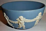 Wedgwood Classical Pale Blue 5 Inch Bowl White Cherubs Bottom Of Bowl Is Signed