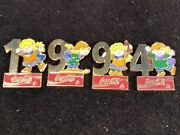 Pin Coca Cola Olympic Lillehammer 1994 Puzzle Numbers Mascots