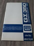 Original 1966 Shelby American Gt350 Mustang Owners Manual Rare First Printing